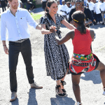 Prince Harry and Meghan Receive Colourful Welcome As They Arrive South Africa For Their African Tour (Photos)