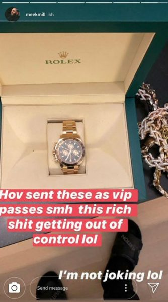 JAY-Z sends Meek Mill, Swizz Beatz & others $40K Rolex watches as VIP pass to his show (See Photos)