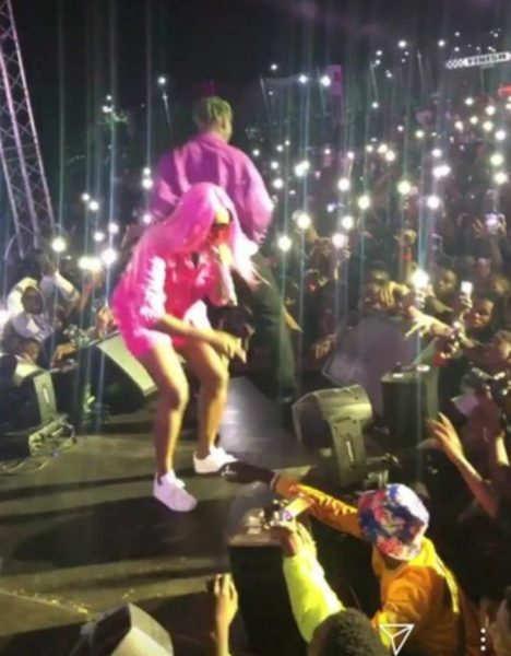 Zlatan Rocks DJ Cuppy At His Concert (See Photos)