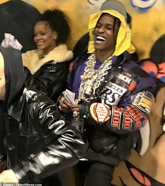 Rihanna Hangs Out With A$AP Rocky After 'Breakup' With Billionaire Boyfriend Hassan Jameel (Photos)