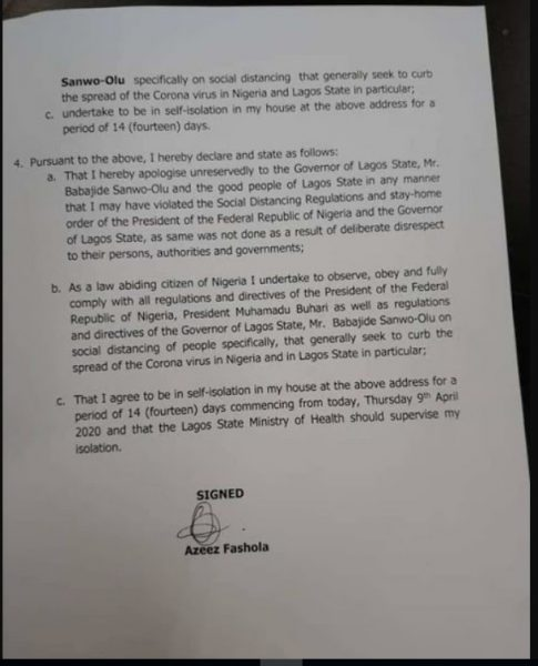 Naira Marley Writes An Apology Letter To Lagos State Government