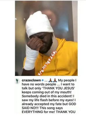 """""""You Won't Understand Until It Happens To You"""" – Comedian Crazeclown Replies After Being Criticized For Filming Himself Crying"""