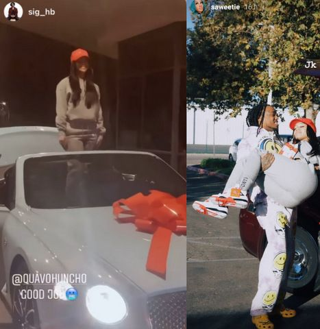 Quavo gifts girlfriend Saweetie a Bentley for Christmas (video)
