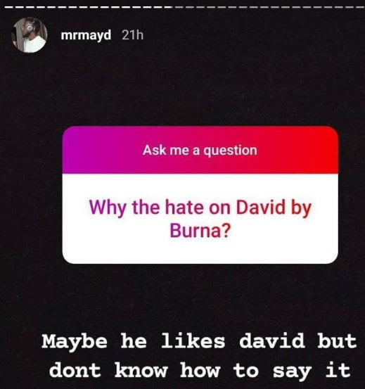 May D Reveals Why Burna Boy Is Hating On Davido