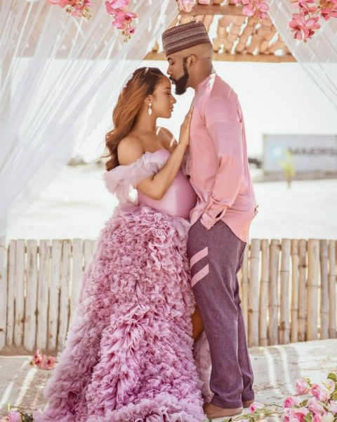 Banky W and Adesua Etomi welcome baby boy